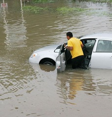 Car in Flood crop
