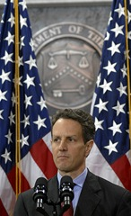 Geithner with Flags